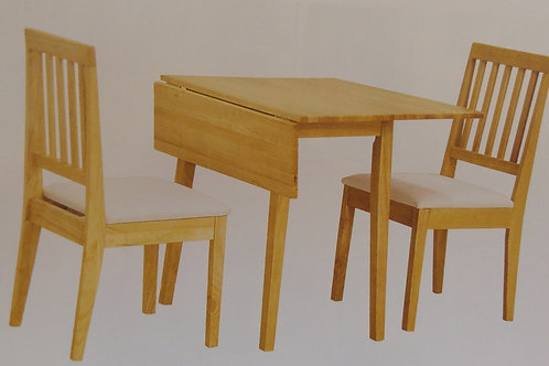 Swiss Drop Leaf Dining Table and 2 Chairs