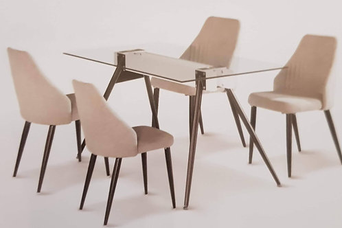 Tessa Table and 4 Chairs