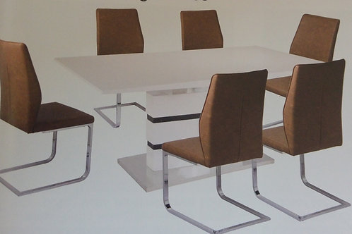 Leona Extending Dining Table and 6 Chairs