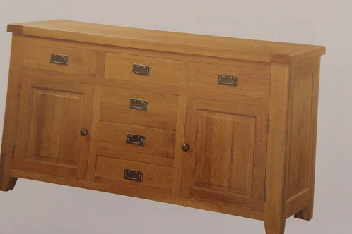 Acorn Large Sideboard 2 Doors and 6 Drawers