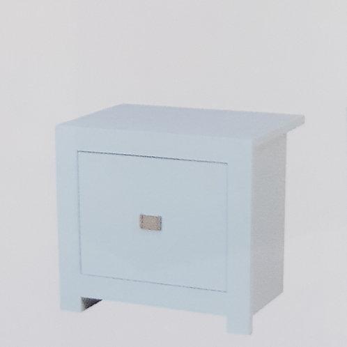 Sokoto White High Gloss Bedside Cabinet