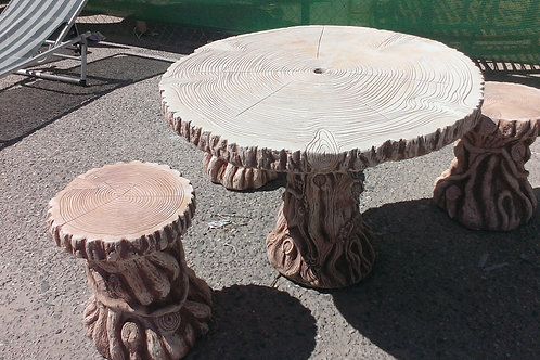 Concrete Garden Table and 4 Chairs