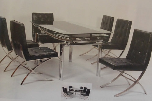Luxor Extending Dining Table and 6 Chairs