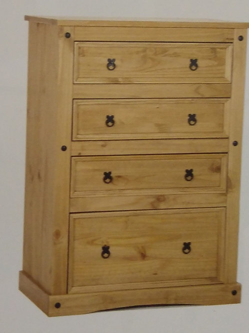 Corona 4 Drawer Wide Chest of Drawers