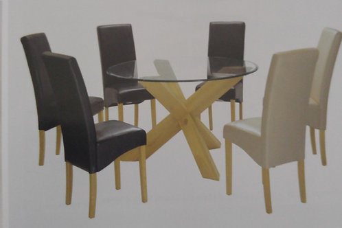 Saturn Large Dining Table and 6 Chairs