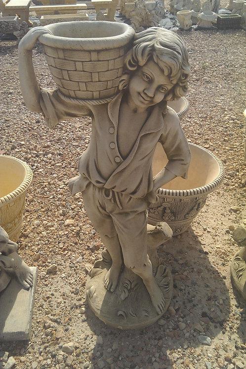 Concrete Boy Statue