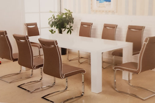 Melinda Dining Table and 8 Chairs