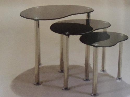 Logan Black Nest of Tables