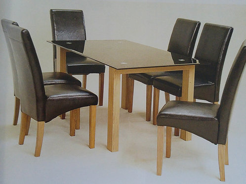 Adina Small Black Dining Table and 4 Chairs