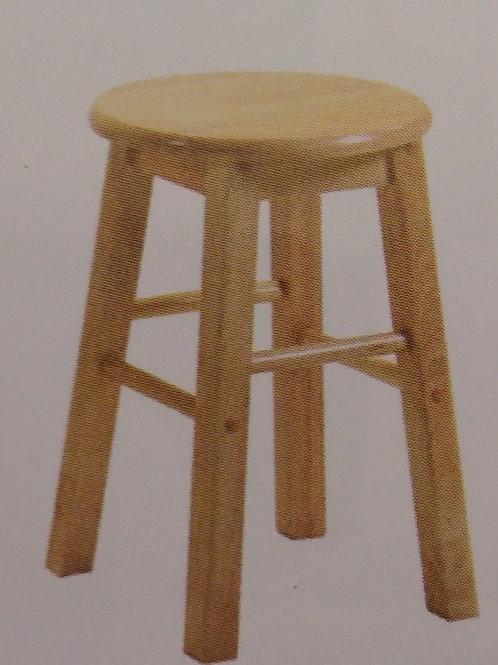 "Bar Stool Pair Wooden (18"")"