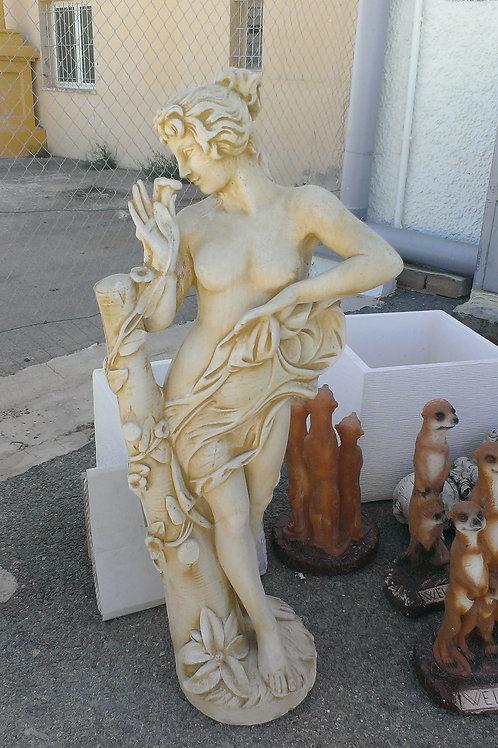 Concrete Flora Lady Statue