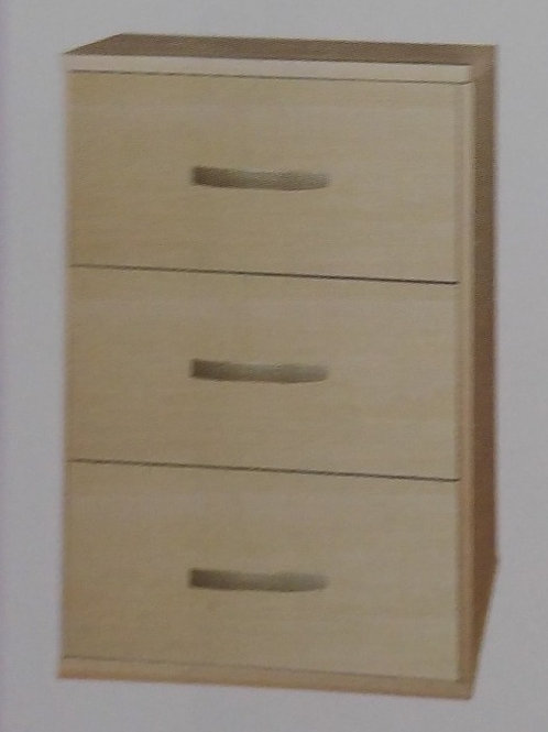 Burton 3 Drawer Bedside Cabinet