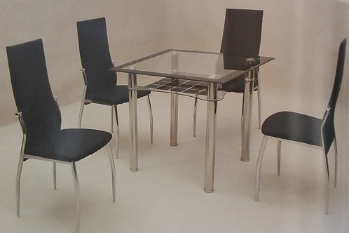 Jazo Black Dining Table and 4 Chairs
