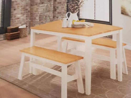 Washington Dining Table and 2 Benches
