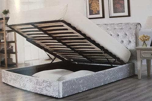 Casablana Storage Crushed Velvet Bed