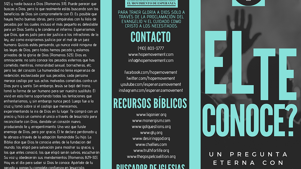DOWNLOAD: Does He Know You? Tract (Spanish)