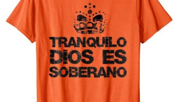 0006: STYLISH TRANQUILO DIOS ES SOBERANO T-SHIRT