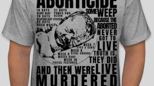 00022: Stylish Aborticide (Pro-Life) T-Shirt