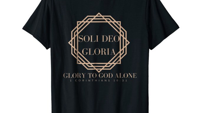 0001: STYLISH SOLI DEO GLORIA T-SHIRT