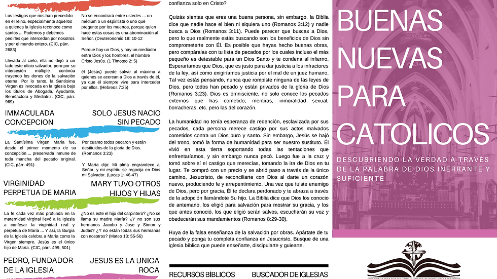 DOWNLOAD: Good News For Catholics Tract (Spanish)