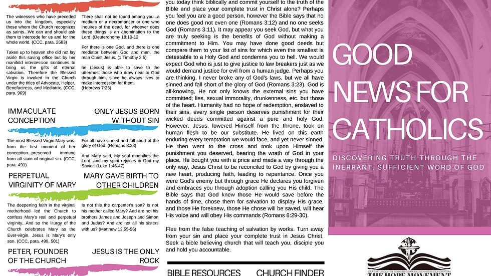 DOWNLOAD: Good News For Catholics Tract (English)