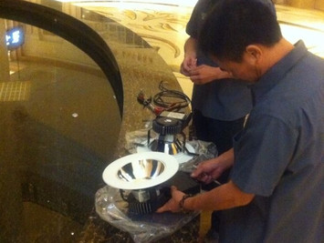 """Maxi"" 3000lm downlight Mock up: 5 Stars Hotel in Macau"
