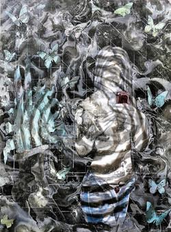 Selfie V, 2017, 60x80cm, acrylic and spray on canvas, 1.300 euro