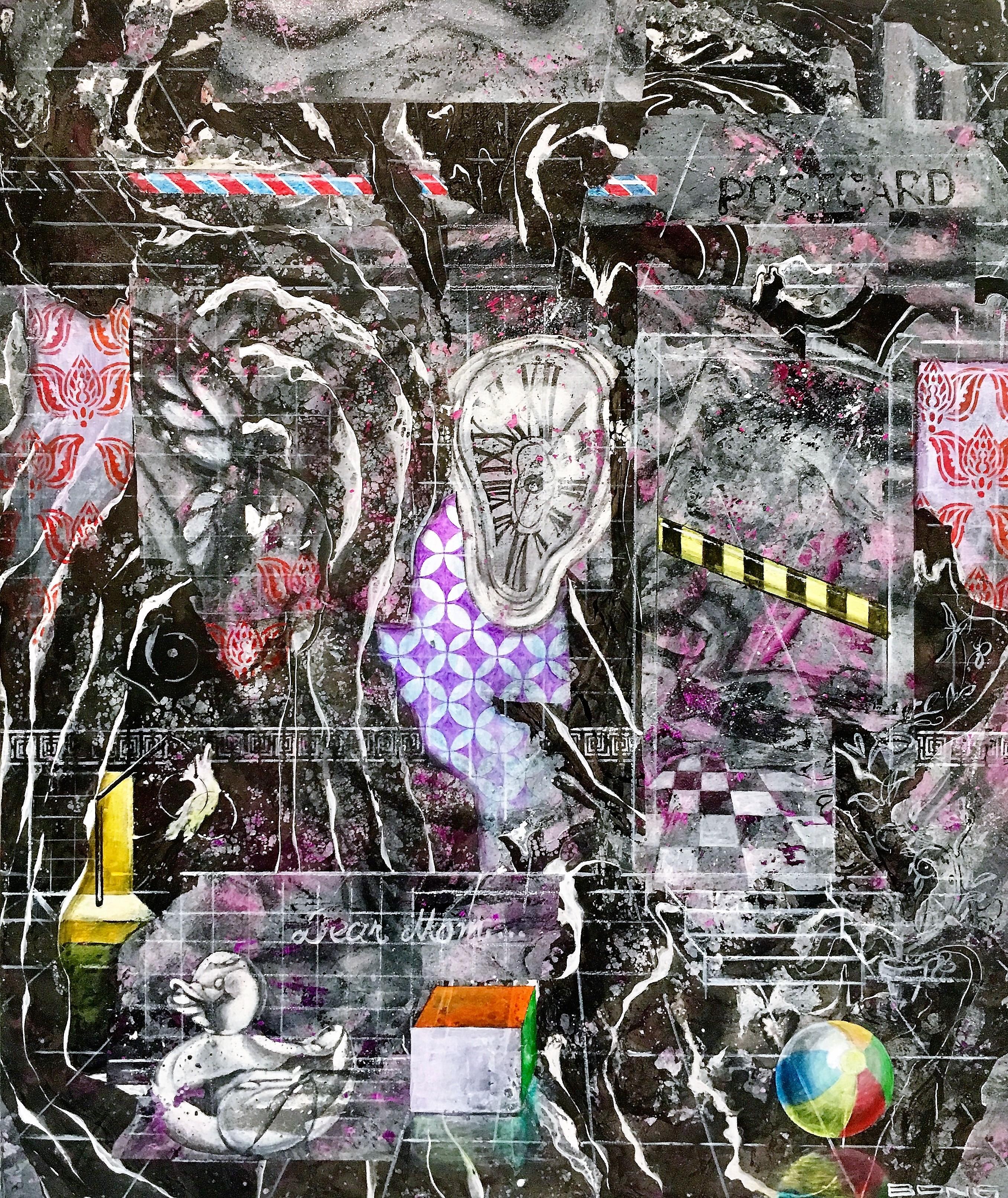Requiem, 2017, 50x60cm, Acrylic and Spray on Canvas, 1.200 euro
