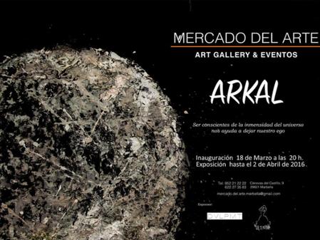 La Artista Arkal en el Mercado del Arte en Marbella