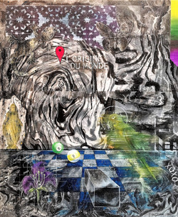 , 2017, 55x65cm, acrylic and spray on canvas, 1.200 euro