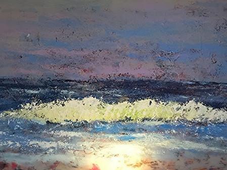 Obra de Manú en Marbella en el Vinci Estrella del Mar