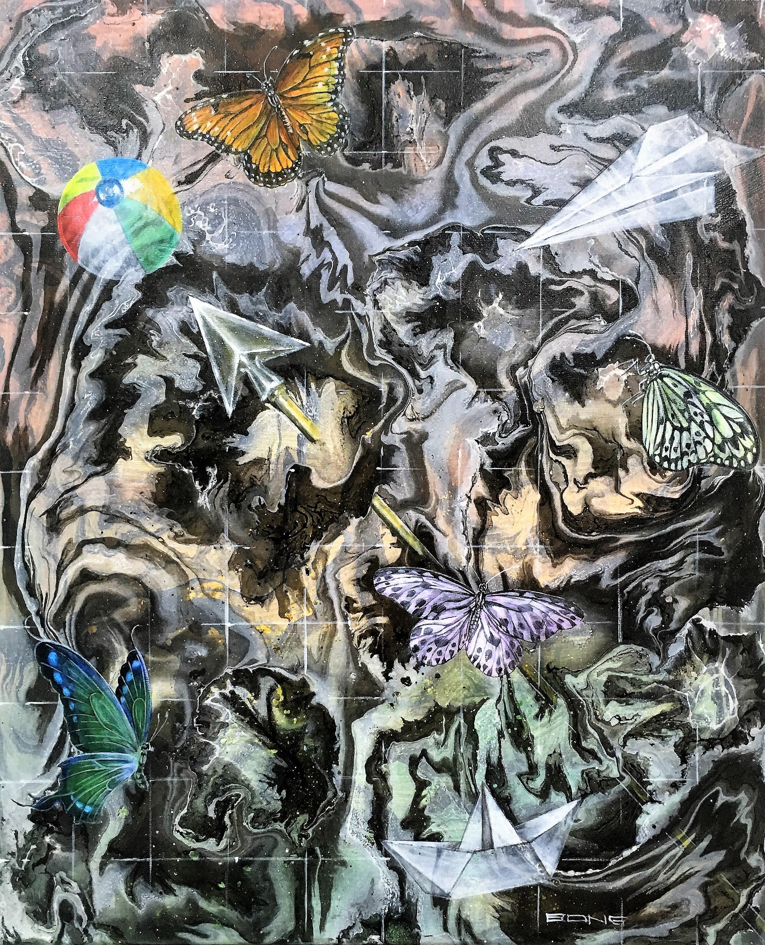 Flecha, 2017, 60x70cm, acrylic and spray on canvas, 1.400 euro
