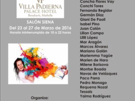 23 MAR Exposición collectiva de ARTe contemporaneo en Villa Padierna PalasHotel Marbella