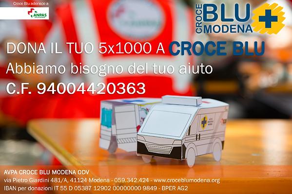 Cartolina 5 x 1000 per Croce Blu