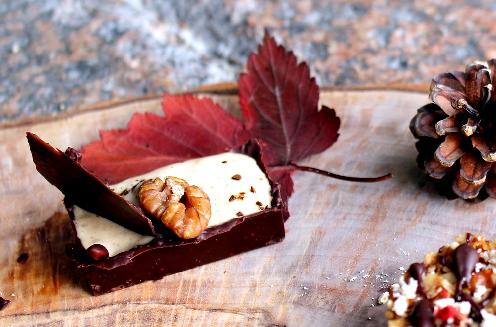 Dark Chocolate Tartlet with a Walnut & Coffee Mousse