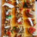 Aperitif, dinner, drinks hummus, bread, catering, office, buffet, events