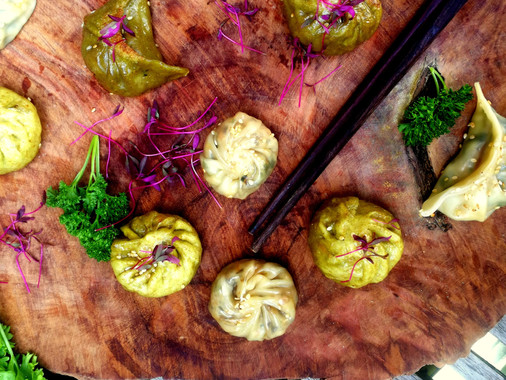 British Seasonal Veg & Vietnamese dumplings