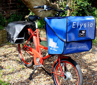 Elysia Catering | Bicycle delivery