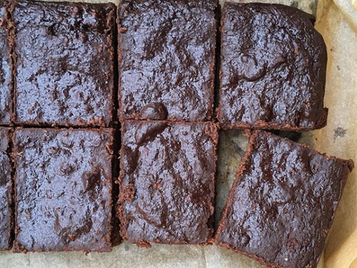Our Supplier Nibs etc. - Brownies from surplus beetroot pulp!