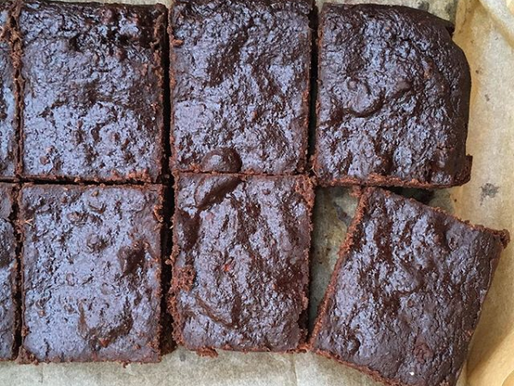 Our Supplier Nibs etc. - Brownies from surplus beetroot pulp!