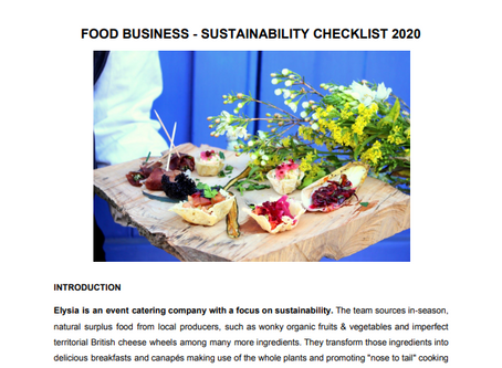 Food Businesses - How to become more sustainable?