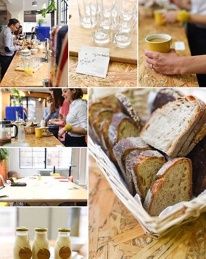 Breakfast, granola, bread, catering, office, buffet