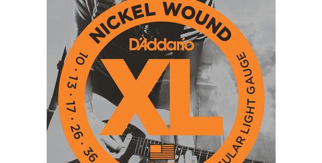 Set de cuerdas Daddario para guitarra eléctrica EXL110 .010-.046
