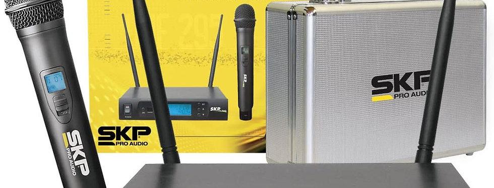 Sistema de Micrófono Inalámbrico SKP Profesional UHF 295