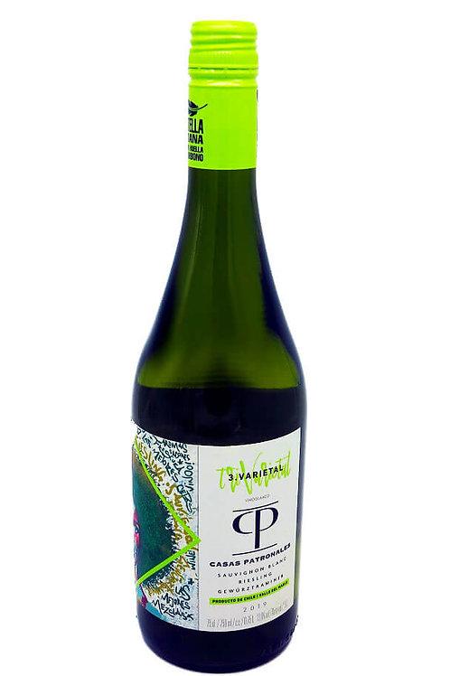 Casas Patronales Trivarietal Blanco - Sauvignon Blanc - 13% - 750ml, Vorderansicht, erhältlich bei VINOS LATINOS