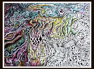 """Pen & Ink, watercolor art portraying """"The Wizard King"""" by Holly Hazelet-Markwalter"""