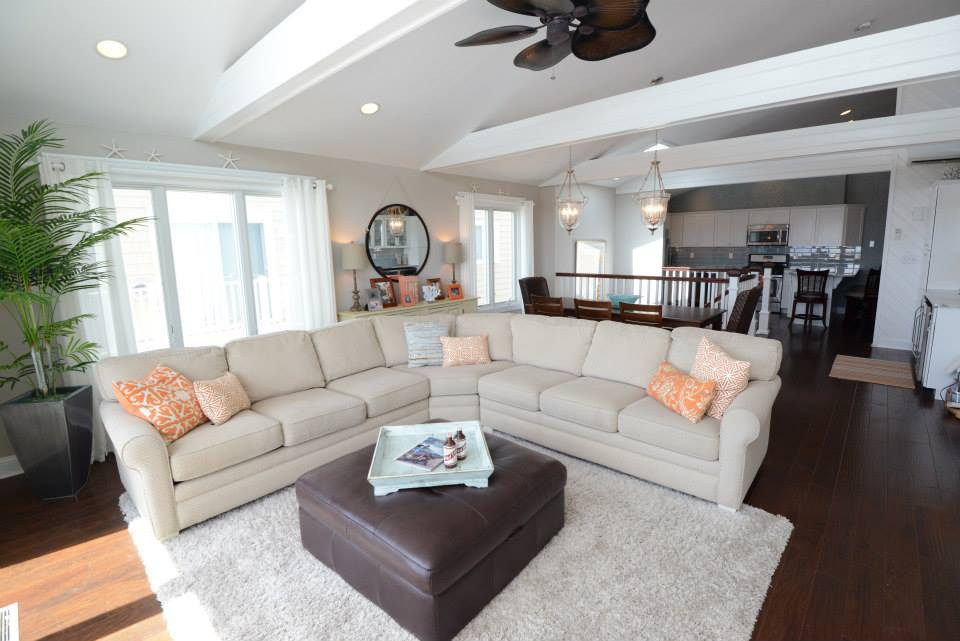 Key changes made: Elimination of popcorn ceiling and one continuous flooring from kitchen to family room.  Sea Isle City, NJ