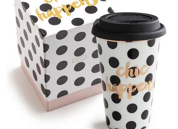 'chic happens' travel mug
