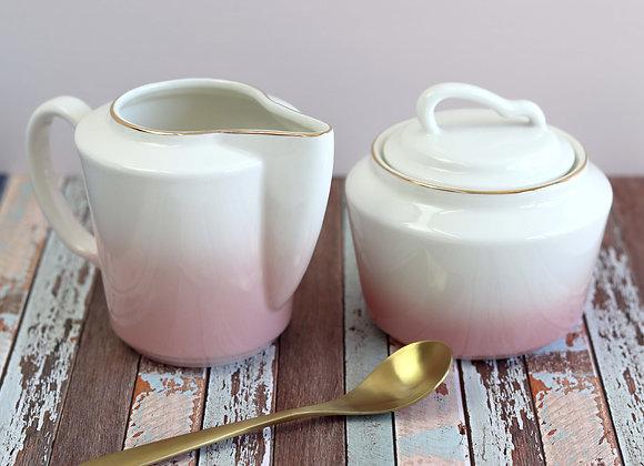 pink ombre sugar bowl + milk jug