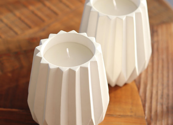 concertina cement candle